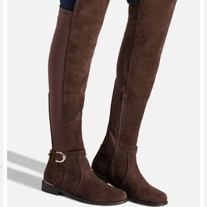 Over the Knees Boots- Size 8 Brand New Brown